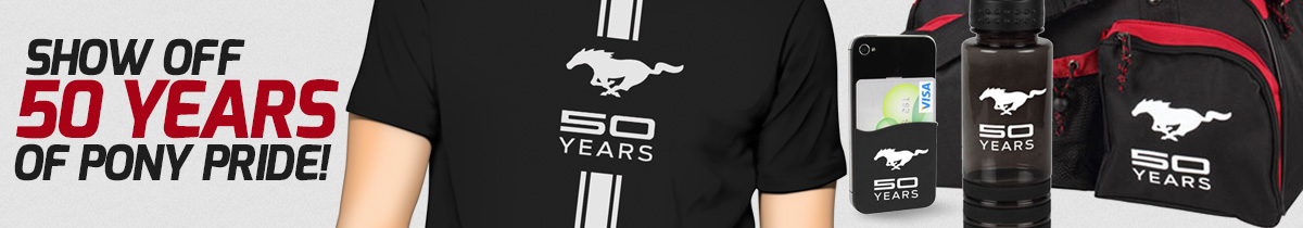 50th Anniversary Mustang Accessories